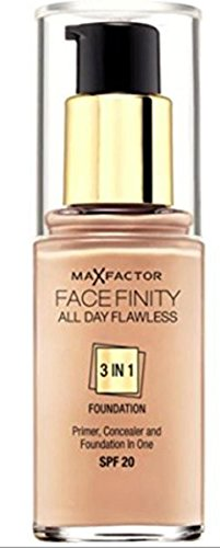 Max Factor Facefinity All Day Flawless 3 In 1 Foundation Spf20 47 (nude) 30ml by Max Factor
