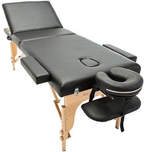 Massage Imperial® - tragbare Deluxe-Massageliege Kensington - leicht 16kg- 3-teilig - schwarz
