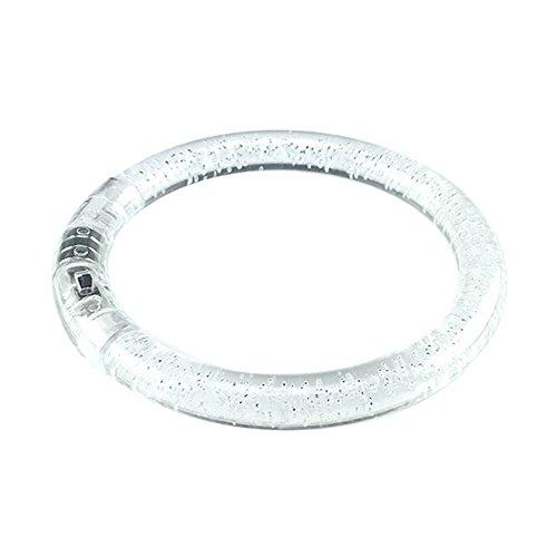 Hemore Light-Up Acrylic Bracelet LED Flashing Wristband Glow Blinking Rave Wear (1Pc)