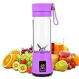 GLNuoke Mini exprimidor de naranja portátil USB mezclador eléctrico de frutas licuadora para procesadores de alimentos personales Extractor de jugo (color : morado)