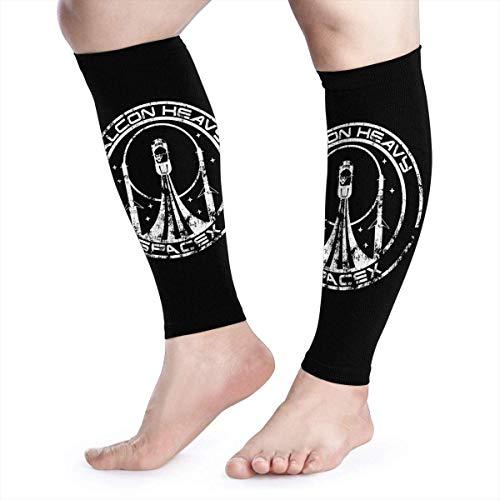 Falcon Heavy Spacex - Manga de compresión para pantorrilla de compresión para el rendimiento de la pierna, apoyo para aliviar el dolor de la pantorrilla