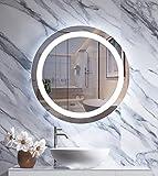 JORYOO 24 inch LED Bathroom Mirror with Light Round, led Bathroom Vanity Mirror, Anti Fog, Dimmable Touch Sensor, IP54 Waterproof, 6000k High Lumen, CRI 95+