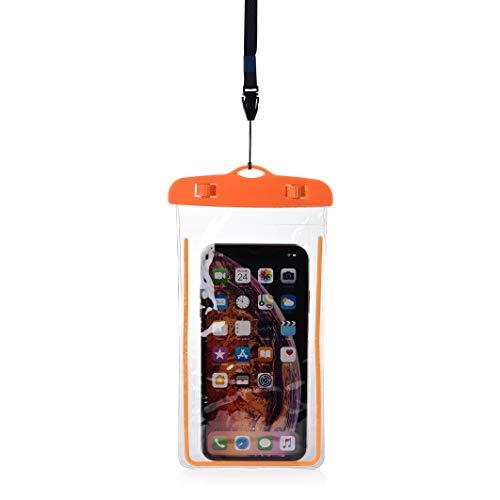 CHUER Funda Impermeable Móvil Universal, Bolsa Sumergible para iPhone X 8 7 6s Samsung J5 J3 J7 S8 S9 Huawei P20 P10 P9 y Otros Móviles (20 * 11cm)