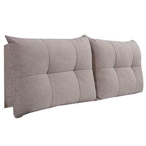 QIANCHENG-Cushion Kopfteil Rückenlehnen Bett Kissen Stereoskopische Rückenlehne Reißverschluss abnehmbar Schlafzimmer Flachs Soft Case, 5 Farben, 9 Größen (Color : #3, Size : 190cm)