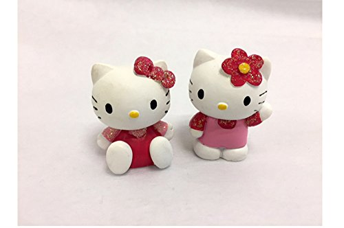 Assortiment de 2 figurines Hello Kitty pour baptême