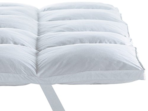 Home Sweet Home 300 Thread Count 100% Egyptian Cotton Hypo-Allergenic Down Alternative Mattress Topper 1000 Grams Filling (Queen Size)