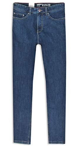 Paddocks Paddock's Ranger Jeans Herren, Dark Blue Stoned, Stretch Denim, Gerader Schnitt (W40/L30)