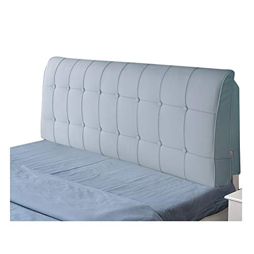 LIQICAI Respaldo Grande Almohada Tapizado Cabeceros De Cama PU Estilo Sencillo Y Clásico con Funda Extraíble, 10 Colores, 5 Tallas (Color : Azul, Tamaño : 190x10x58cm)