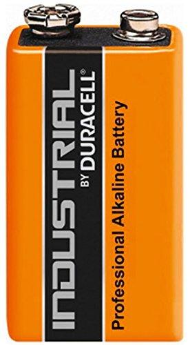 10 x 9V Duracell Industrial MN1604 E-Block Alkaline Batteries for Electronics