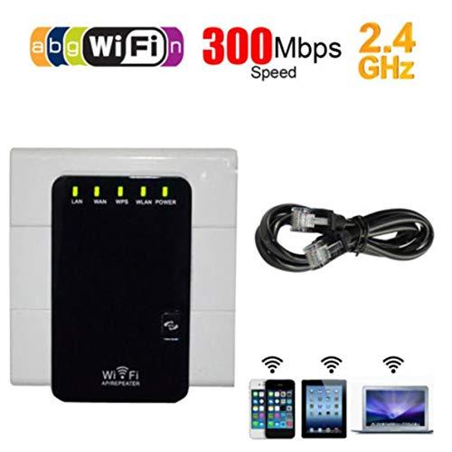 Moliies 2.4G WiFi Signal Range Booster Amplificador de Red inalámbrica Amplificador Repetidor de Internet Fácil de Instalar+Negro
