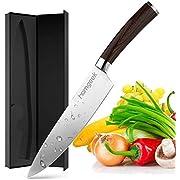 homgeek Küchenmesser 20cm Profi Messer Chefmesser Allzweckmesser aus rostfreiem Stahl, Extra Scharfe Messerklinge mit ergonomischer Griff