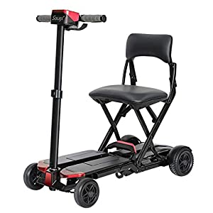 LIYIN Collapsible and Compact Duty Travel Scooter 4 Wheel Remote Folding Mobility Scooter for Mobility Assistance and Travel, Lightweight Lithium Battery