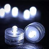 Paquete Realista de 12 Velas parpadeantes, sin Llama, Impermeables, lámpara Flotante en el Agua, LED, Luces de té operadas por plástico para Piscina Brillante (Color: Blanco)