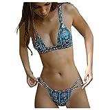 Vobery Sexy Floral Bikini de Cintura Alta Set Beachwear Traje de Baño para Mujer