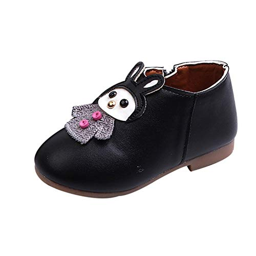 IGEMY_baby Igemy Enfants Chaussures Filles, Kid bébé Fille Dessin animé Cuir Sport Courtes Bottes Martin Casual Chaussures