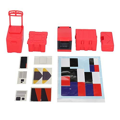 Decoración de simulación RC, Caja de Pesca para Coche RC, Accesorio de plástico RC Coche RC Coche RC Gabinete de Herramientas(Red)