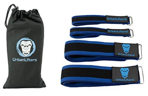 Urban Lifters Occlusion-Trainingsbänder – verstellbare Okklusionsbänder für Arme und Beine. Perfekt für Muskelaufbau, Kraftaufbau, Hypertrophie, Erholung. Inklusive Tasche.