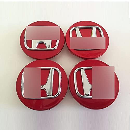 4 Piezas Tapas Centrales para Hond-a CivicCRVHRVFitJazzAcordFreedPilot 70mm 69mm, Tapacubos de Cromado para Llantas Abs PláStico Accesorios Universales para El Coche