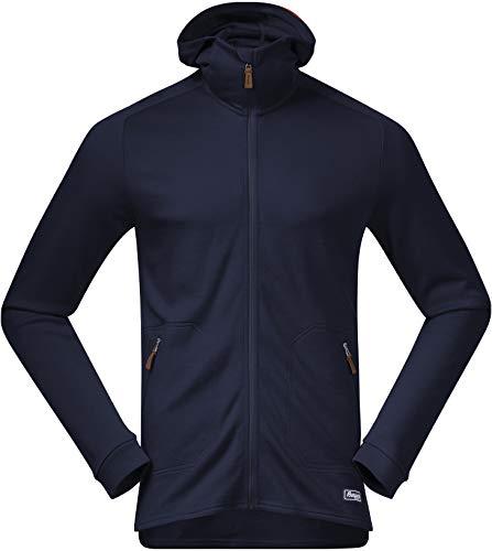 Bergans Tuva Light Wool Hood Jacket Men Größe L Navy