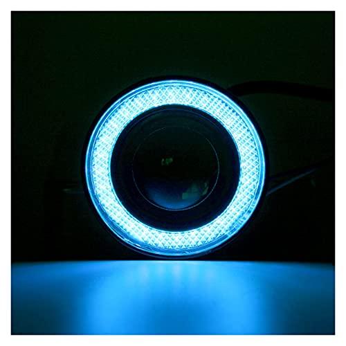 Linterna Ángel Ojos niebla luz Universal COB LED LED DRL Luz de conducción Lámpara de niebla 64mm 76mm 89mm 2.5'3' 3.5'12v 2pcs (Color Temperature : 3.0inch 76mm)