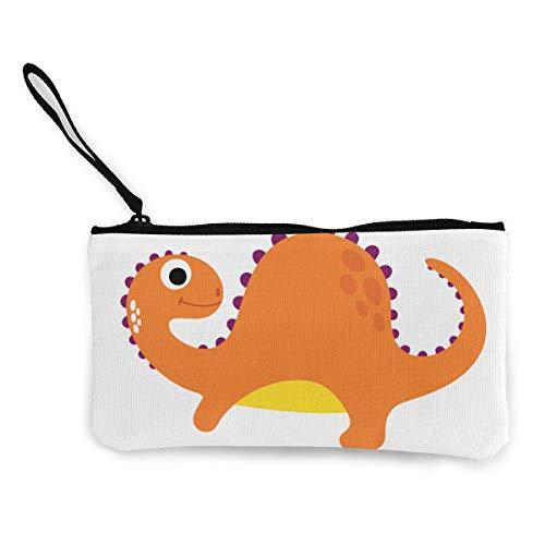 Hdadwy Dibujos Animados Naranja PNG dragón con Bandas Canvas Zipper Purse, Personalized Lady 's Make up Bag, Handbag, Suitcase Women' s Accesorios