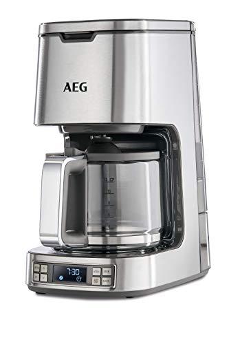 AEG KF 7800 Kaffeemaschine (Programmierbarer Timer, LCD-Display, Warmhaltefunktion, Geschmack/Aroma wählbar, Permanentfilter, Sicherheitsabschaltung, Selbstreinigungsfunktion, gebürstetes Edelstahl)
