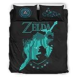 Ballbollbll The Legend of Zelda - Sábanas de cama supersuaves y cómodas, 3 piezas, con 2 fundas de almohada y 1 funda de edredón, color blanco