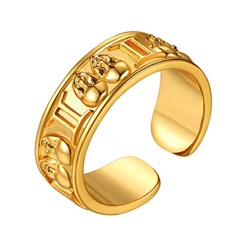 FindChic Gemini Zodiac Sign Ring, 18k Gold Plated Horoscope Opening Ring Astrology Jewellery Birthday Gift for Men and Women Adjustable Personalised Engravable Star Sign Ring