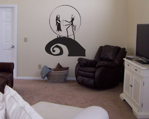 RoomMates The Nightmare Before Christmas Jack And Sally Peel And Stick Wall Decals Black Wall Stickers