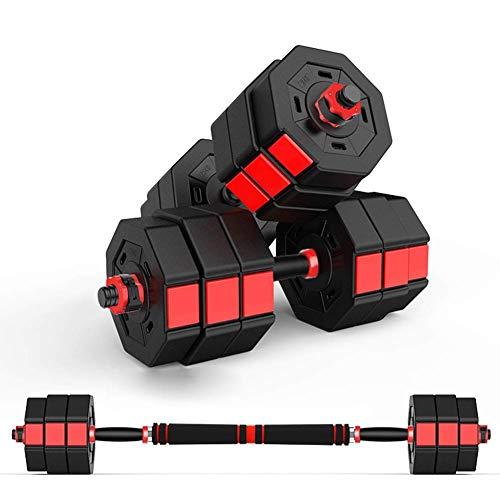 Alta qualità Regolabile manubri ottagonale fitness manubri con una chiave di blocco Dado e Anti Rolling ottagonale ferro Sand Miscela Peso Piastra pesi Workout push up, 44lb × 2 ( Color : 33lb×2 )