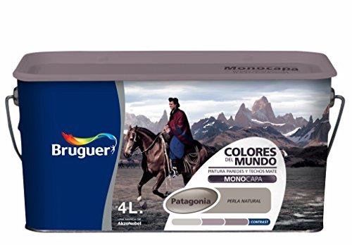 Bruguer Colores del Mundo Pintura para paredes monocapa Patagonia Perla Natural 4 L