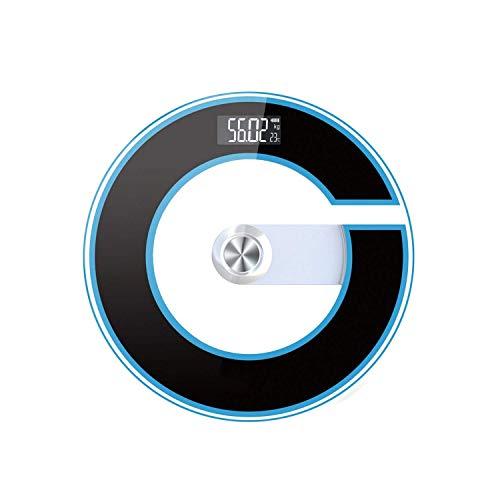 XJJZS Báscula de baño Digital de Peso Corporal con tecnología Step-On (Color : C)