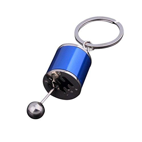 Holeider Schlüsselanhänger, Metall Schalthebel Gangschaltung Getriebe Stick Getriebe Schlüsselanhänger Auto (Blau)