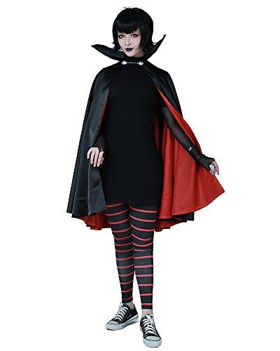 Cosplay.fm Damen Mavis Dracula Halloween-Kostüm mit Umhang -  Schwarz -  Medium