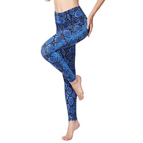 NIGHTMARE Pantalón Pantalón para Correr Pantalón de Mujer Pantalón de Yoga Floral Pantalón Holgado para salón Scrunch Control de Barriga Gruesa XL