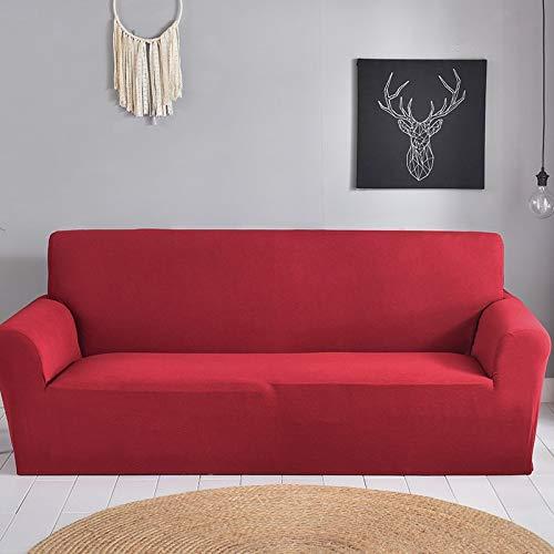 ASCV Funda de sofá de Color sólido en Forma de L Funda de sofá en Forma de L Funda de sofá Simple Funda de sofá Lavable Antideslizante a Prueba de Polvo A6 4 plazas