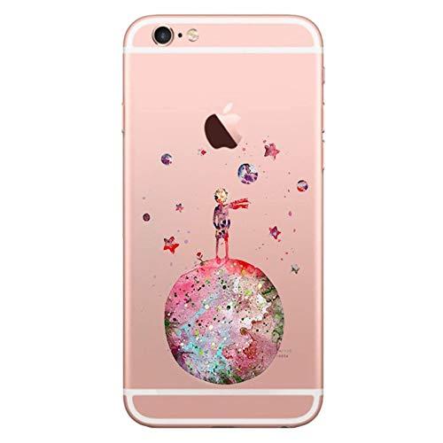 iPhone 6S Custodia, iPhone 6 Cover, morbido Trasparente antiurto silicone originale con Disegni TPU Bumper con apple case Protettiva trasparenti Posteriore per iPhone 6 / iPhone 6S (Piccolo principe)