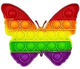 CRAZYCHIC - Pop It Fidget Toys - Popit Push Bubble Juguetes Niños Barato - Juegos Antiestres Hijos Adultos - Burbujas Multicolor Arco Iris Regalo Niño Niña - Mariposa