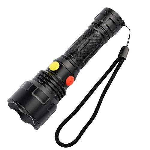 Linterna LED con luz roja, verde, blanca y amarilla, BESTSUN 4 colores en 1 linterna de múltiples colores Linterna de señalización de carretera para astronomía Visión nocturna, pesca, camping