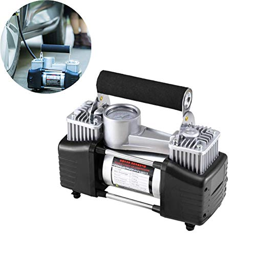 Hinchador Electrico Compresor De Aire Portatil Inflador de neumáticos con manómetro Compresor Digital Inflador de neumáticos