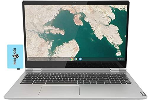 Lenovo Chromebook C340-15 Home & Business Laptop 2-in-1 (Intel i3-8130U 2-Core, 4GB RAM, 64GB SSD, Intel UHD 620, 15.6' Touch Full HD (1920x1080), WiFi, Bluetooth, Webcam, Chrome OS) with Hub
