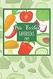 Mis Recetas Favoritas: Espacio para foto - Cuaderno para recetas de cocina - Recetario de cocina en blanco - Libreta para recetas de cocina (Cuadernos Recetas)