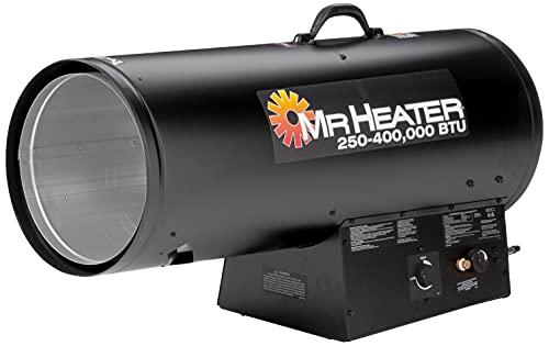 Mr. Heater 250,000-400,000 BTU Calefactor de propano de aire forzado con QBT, regular, multicolor