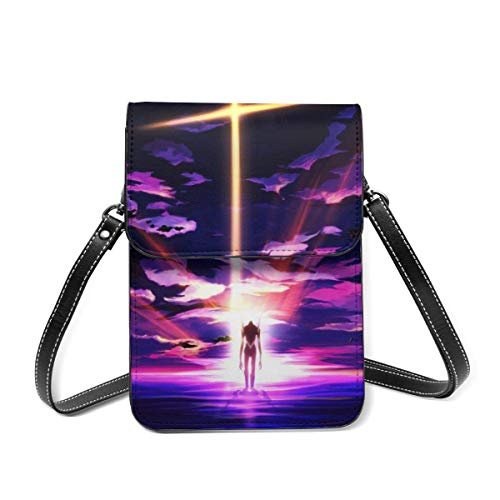 XCNGG Crossbody Cell Phone Purse, Anime Game Small Crossbody Bags - Women PU Leather Multicolor Handbag with Adjustable Strap