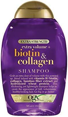 OGX Thick Full Biotin Collagen Extra Strength Volumizing Shampoo with Vitamin B7 Hydrolyzed product image