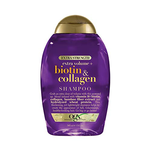 OGX Thick & Full + Biotin & Collagen Extra Strength Volumizing Shampoo with Vitamin B7 & Hydrolyzed...