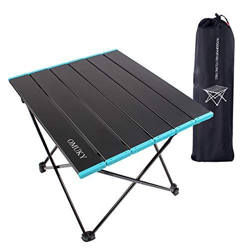 Tavolo pieghevole portatile da campeggio pieghevole piccolo tavolo pieghevole leggero piccolo tavolo pieghevole in alluminio per campeggio, auto, viaggi, picnic, barbecue (piccolo-nero)