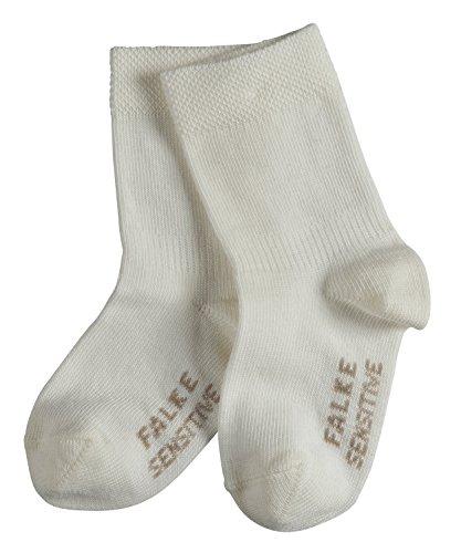 FALKE Baby Socken Sensitive - 94% Baumwolle, 1 Paar, Weiß (Off-White 2040), Größe: 74-80