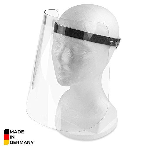 Visier Gesichtsschutz – Gesichtsschutz aus Kunststoff abwaschbar – Face Shield – Gesichts Schutzschild Made IN Germany