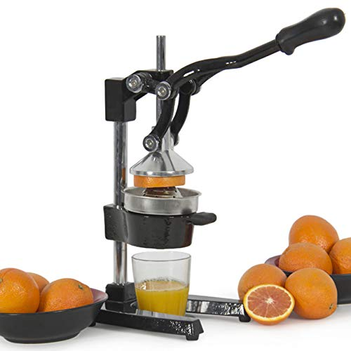 Best Choice Products Large Heavy-Duty Commercial Fresh Squeeze Citrus Fruit Juicer w/Manual Ergonomic Handle - Black